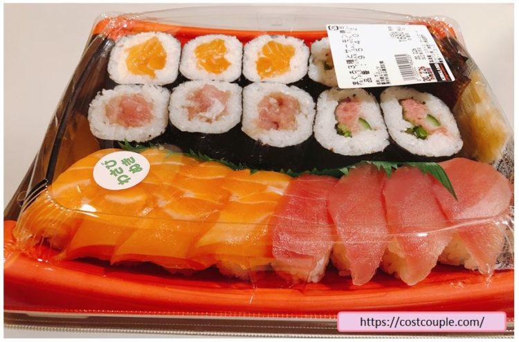 コストコの購入品画像(2020年2月26日)のサーモンとまぐろ3種のお寿司