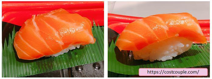 コストコのまぐろ3種とサーモン寿司