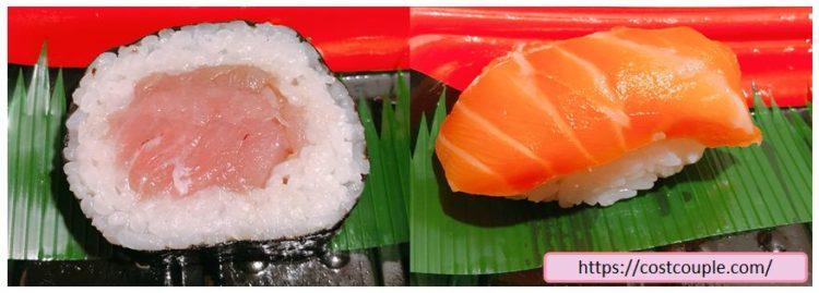コストコの購入品画像(2020年2月26日)のサーモンとまぐろのお寿司