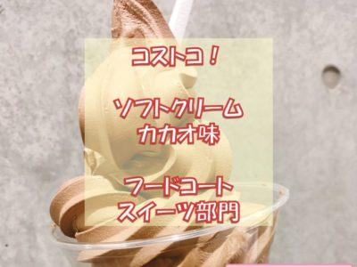 コストコソフトクリームのカカオ味