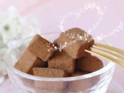 チョコレートを盛った画像