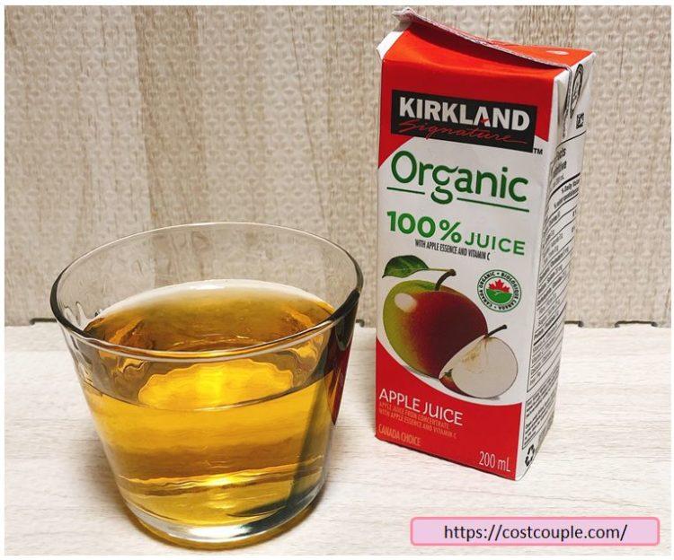 コストコのKS100%オーガニックジュースのアップル