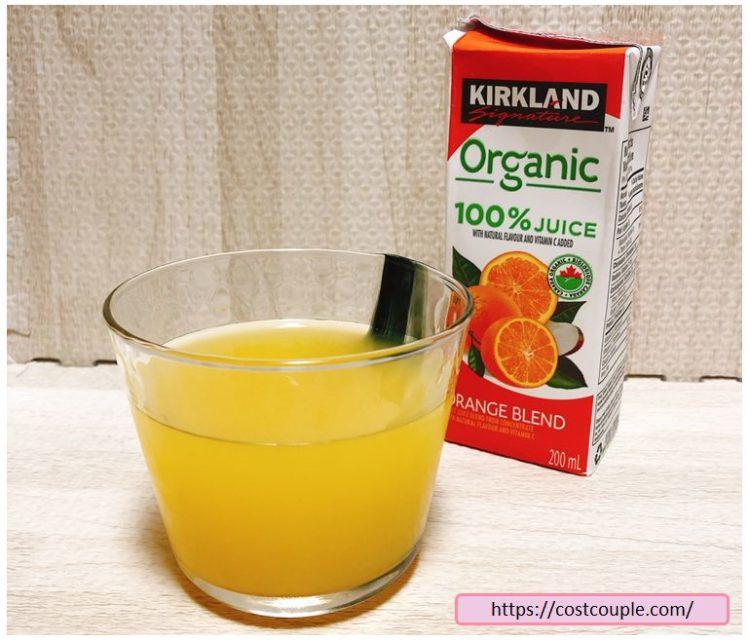 コストコのKS100%オーガニックジュースのオレンジ