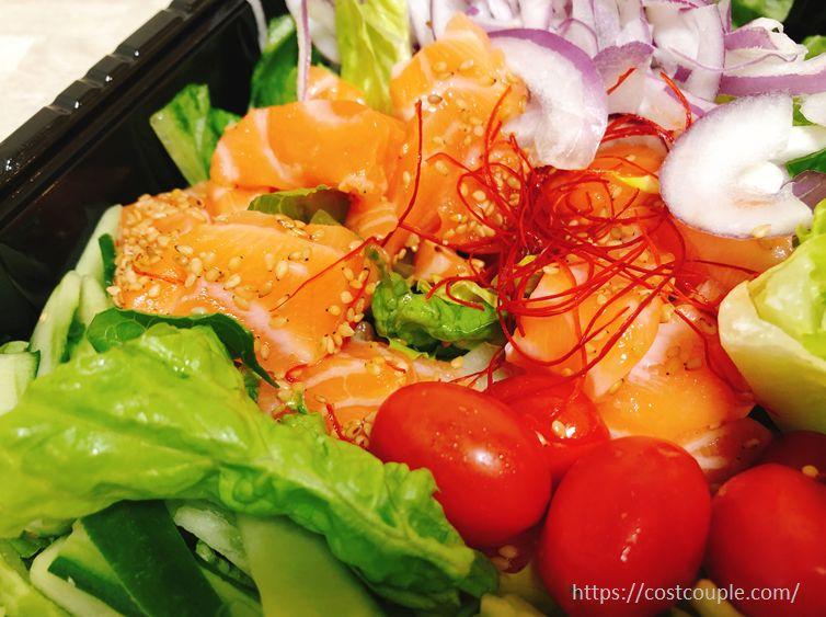 コストコのサーモンチョレギサラダ