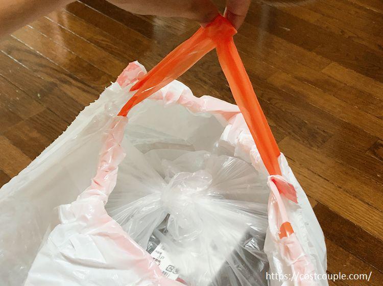 ひも付きゴミ袋